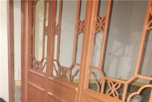 长沙室内餐饮钢构木纹漆施工效果