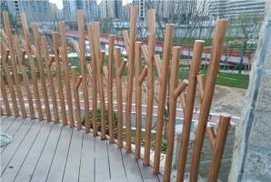 南京圆管钢构仿木纹漆施工项目