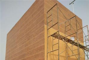 江西南昌混凝土外墙木纹漆施工项目