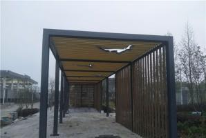 合肥镀锌管廊架木纹漆施工