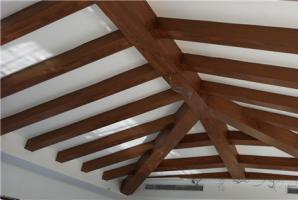 天津石膏板顶梁木纹漆效果