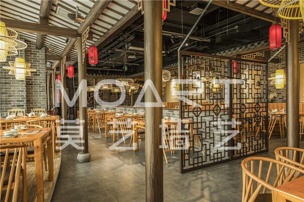 餐厅木纹漆