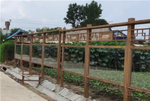 吉林乡村钢构指示牌栏杆木纹漆施工价格