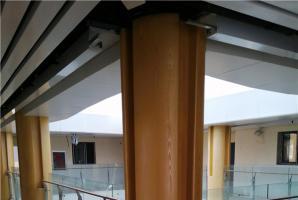 室内铝板仿木纹施工效果