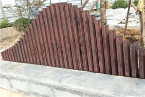 陕西铜川收费站钢构仿木纹施工厂家