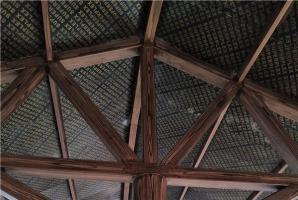 南京动物园钢构混凝土廊架木纹漆施工厂家