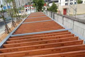 福建钢构车棚廊架仿木纹施工工艺