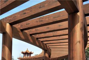 河北混凝土廊架仿木纹施工