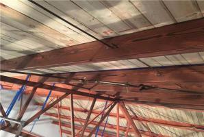 重庆南川工字钢仿木纹屋顶仿木纹施工效果