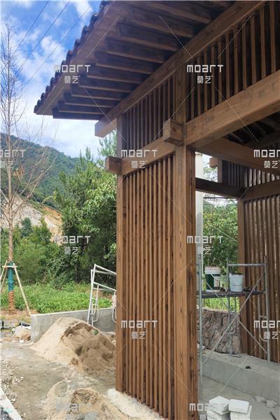 金属廊架仿木纹漆怎么施工