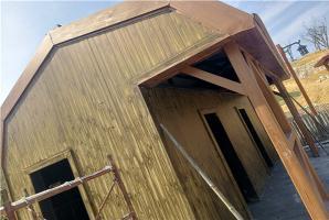 混凝土外牆仿古木紋漆廠家施工效果展示